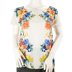 Forever 21 Floral Short Sleeve Top